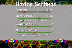 Hexing Settings Page 1