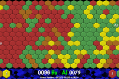 Hexing Game with 4 Colours