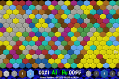 Hexing Game with 10 Colours
